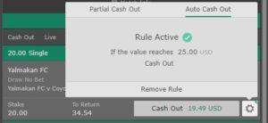 auto cash out rule active