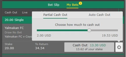 partial cash out example